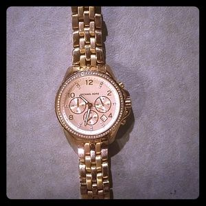 Rose Gold Michael Kors Chronograph Watch